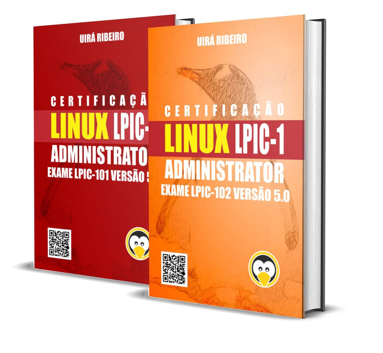 dois_livros_juntos Livro Certificação Linux LPIC-1